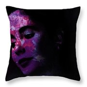 Facets Of Beauty Throw Pillow