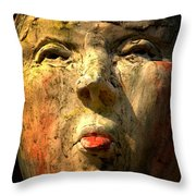 Facing It Throw Pillow