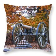 Facing Pickettes Charge Throw Pillow