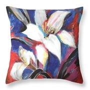 Fair Pure Fragile White Lilies Throw Pillow