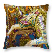 Fairground Carousel Throw Pillow
