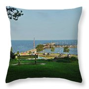 Fairhope Pier 2012 Throw Pillow