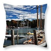 Fall In The Harbor Throw Pillow