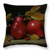 Fall Pear #2 Throw Pillow