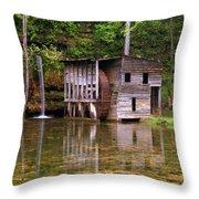 Falling Spring Mill  Throw Pillow