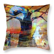 Family Connection Throw Pillow