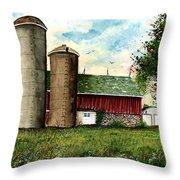 Family Farm Throw Pillow