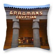 Famous Egyptian Theater In Hollywood California. Throw Pillow