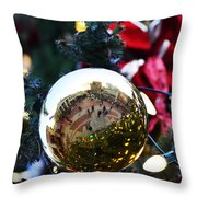Faneuil Hall Christmas Tree Ornament Throw Pillow