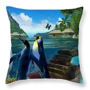 Fantasy Island Throw Pillow