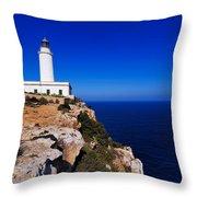 Far De La Mola On Formentera Throw Pillow