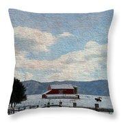 Farm Life Throw Pillow