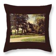 Farmhouse Landscape Throw Pillow