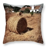 Farmland Throw Pillow by Carlos Caetano