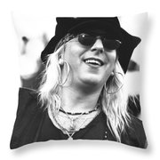Faster Pussycat Throw Pillow