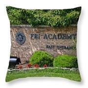 Fbi Academy Quantico Throw Pillow