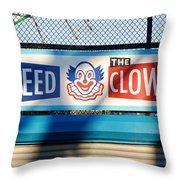 Feed The Clown Throw Pillow