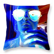 Feelin Blue Throw Pillow