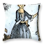 Female Continental Soldier Throw Pillow