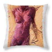 Female Throw Pillow