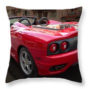 Ferrari 360 Spider Throw Pillow