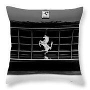 Ferrari Grille Emblem Throw Pillow