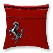 Ferrari Horse Throw Pillow