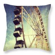 Ferris Wheel In Paris Throw Pillow