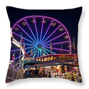 Ferris Wheel Rides And Games Throw Pillow