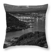 Ferrol's Estuary Panorama From La Bailadora Galicia Spain Throw Pillow