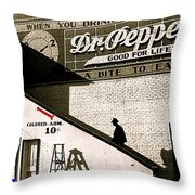 Feud Of The Range Homage Marion Post Wolcott Biloxi Mississippi 1939-2010 Throw Pillow
