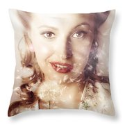 Fifties Beauty In Nature And Natural Light Throw Pillow
