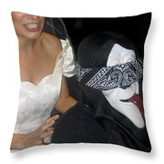 Film Homage Bela Lugosi Ed Wood Bride Of The Monster 1955 Halloween Party Casa Grande Arizona 2005 Throw Pillow