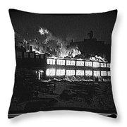 Film Homage Chris Marker La Jetee 1962 Winter Fire Collage Aberdeen South Dakota 1965-2013 Throw Pillow