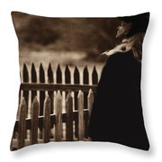 Film Homage Deana Martin Funeral Young Billy Young Set Old Tucson Arizona 1968 Throw Pillow