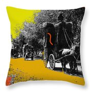 Film Homage Haskell Wexler Days Of Heaven Hay Wagons 1878-2008 Throw Pillow