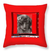 Film Homage Joan Crawford Louis Milestone Rain 1932 Collage Color Added 2010 Throw Pillow