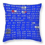 Film Homage License To Kill 1989 License Plates Ghost Town Crested Butte Colorado 1968-2012 Throw Pillow