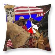 Film Homage Ride Vaquero 1953 1 Hispanic Riders Rodeo Parade Tucson Az 2002-2008 Throw Pillow