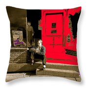 Film Homage Sins Of Passion 1937 Russell Lee Fsa Tower Minnesota 1937-2010 Sepia Toned Color Added Throw Pillow