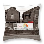 Film Homage Walker Evans Carole Lombard Love Before Breakfast 1936 Atlanta Georgia Color Added 2009 Throw Pillow