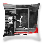 Film Noir Charles Bronson Death Wish 1974 Stunt Man Old Tucson Arizona 1968 Color Added 2012 Throw Pillow