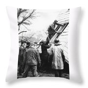 Film Noir Harry Morgan Jack Webb Allan Ladd Appointment With Danger 1951 Gas Explosion Aberdeen Sd Throw Pillow