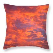 Film Noir Homage Leave Her To Heaven Number 1 Fiery Clouds Casa Grande Arizona 2005 Throw Pillow