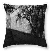 Film Noir Kim Novak Vertigo 1958 Graveyard Tumacacori Mission Tumacacori Arizona 1979-2008 Throw Pillow