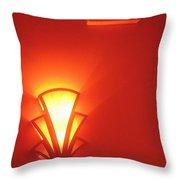 Film Noir Raymond Burr Robert Aldrich Red Light 1949 Art Deco Light Fox Tucson Theater 2006 Throw Pillow