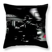 Film Noir Tom Neal Ann Savage Edgar Ulmer Detour 1945 Screen Capture Color Added 2012 Throw Pillow