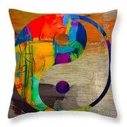 Finding Good Balance Throw Pillow