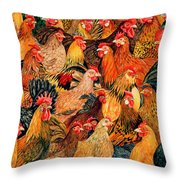 Fine Fowl Throw Pillow