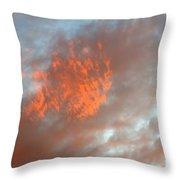 Fireball In The Sky Throw Pillow